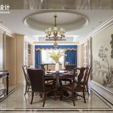 面积119平美式四居餐厅装修设计效果图