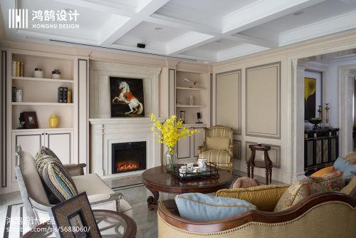 2018精选面积134平美式四居客厅装修图片欣赏客厅沙发3图