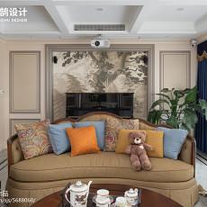2019精选面积118平美式四居客厅设计效果图