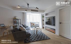 精选108平米三居客厅北欧效果图片欣赏151-200m²三居北欧极简家装装修案例效果图