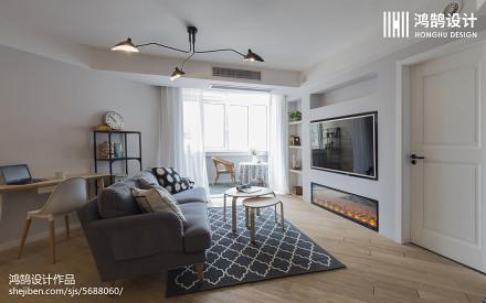 精选108平米三居客厅北欧效果图片欣赏