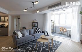 优雅98平北欧三居客厅装修美图151-200m²三居北欧极简家装装修案例效果图