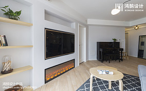 精选面积109平北欧三居客厅装修效果图片151-200m²三居北欧极简家装装修案例效果图