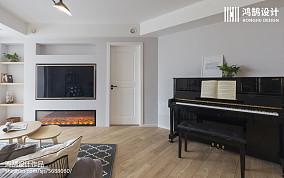 精美106平米三居客厅北欧装饰图片151-200m²三居北欧极简家装装修案例效果图