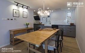 2018精选108平米三居餐厅北欧装修图片欣赏151-200m²三居北欧极简家装装修案例效果图