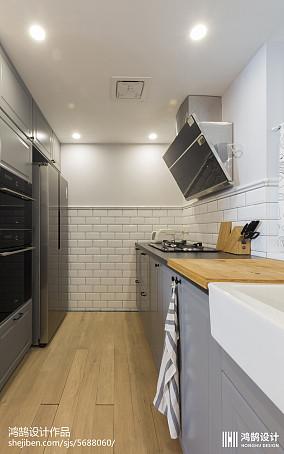 华丽108平北欧三居厨房装修装饰图151-200m²三居北欧极简家装装修案例效果图