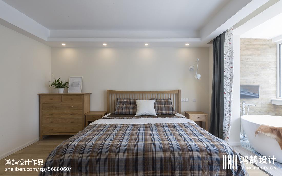 热门90平米三居卧室北欧装修实景图片大全卧室床北欧极简卧室设计图片赏析