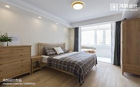 华丽112平北欧三居卧室设计图151-200m²三居北欧极简家装装修案例效果图