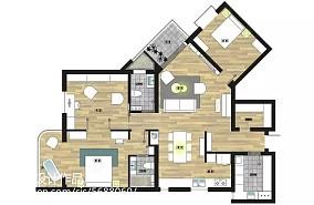 悠雅105平北欧三居装饰图片151-200m²三居北欧极简家装装修案例效果图