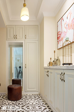 暖色系美式三居玄关设计图玄关1图美式经典设计图片赏析