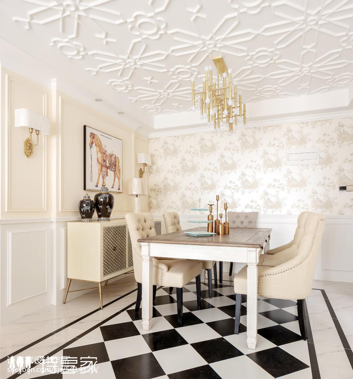暖色系美式三居餐厅设计图片厨房1图美式经典餐厅设计图片赏析