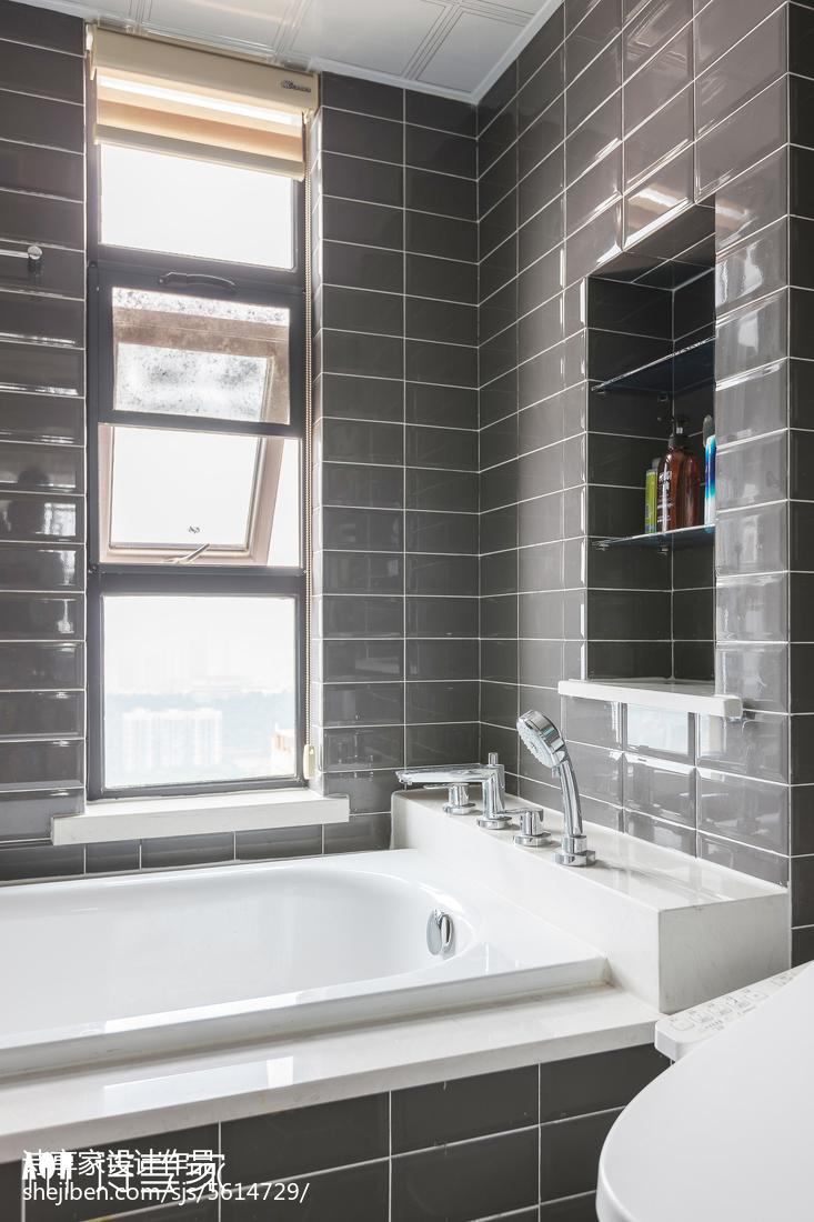 暖色系美式三居卫浴设计图卫生间美式经典卫生间设计图片赏析