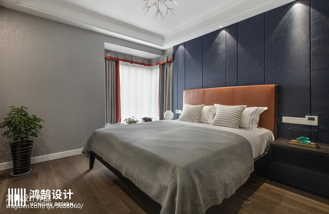 精选101平方三居卧室现代装修实景图片卧室床现代简约卧室设计图片赏析