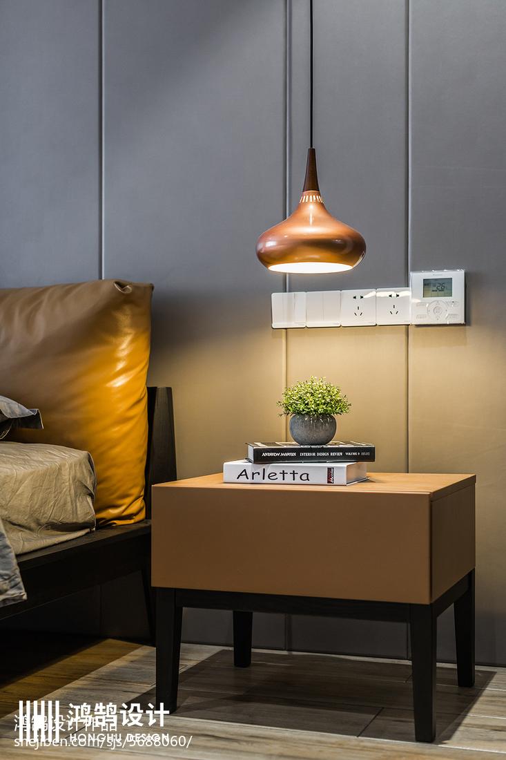面积141平现代四居卧室实景图卧室现代简约卧室设计图片赏析