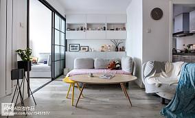 2018精选75平方二居客厅欧式装修设计效果图片