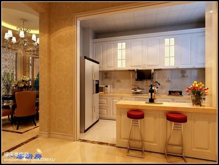 精选113平米欧式别墅厨房装修设计效果图片大全餐厅