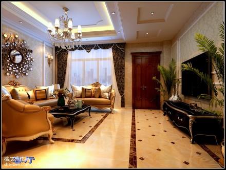 精选面积137平别墅客厅欧式装修实景图片欣赏客厅