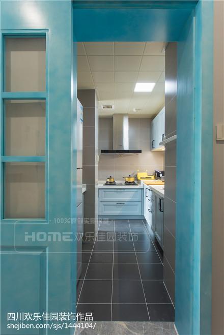 典雅99平北欧三居厨房装修图餐厅