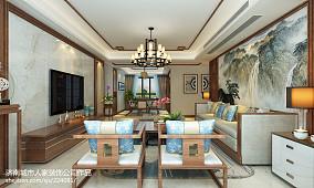 保利海德公馆140平三室两厅新中式装修效果图_2952649