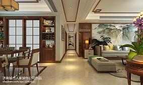 保利海德公馆140平三室两厅新中式装修效果图_2952653
