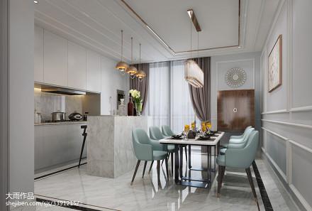 典雅109平新古典三居餐厅设计案例厨房