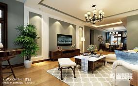 现代简约客厅电视墙的设计