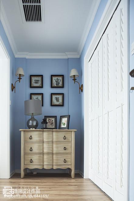 精选117平米四居卧室美式装饰图片欣赏卧室