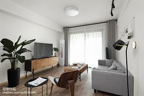 2018北欧小户型客厅装饰图片一居北欧极简家装装修案例效果图