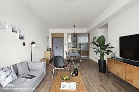 2018面积71平小户型客厅北欧欣赏图片大全一居北欧极简家装装修案例效果图