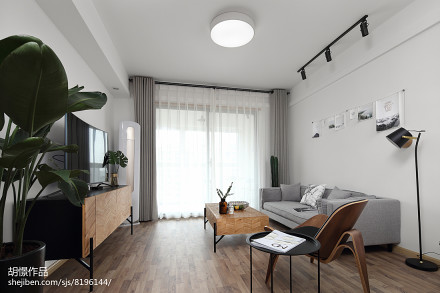 2018精选80平米北欧小户型客厅装修欣赏图片大全