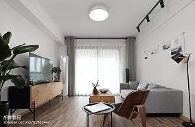 热门80平米北欧小户型客厅装修实景图