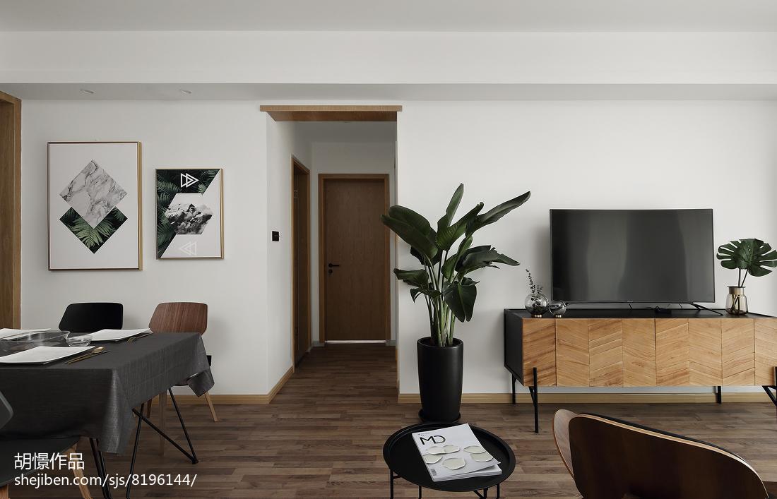 热门小户型客厅北欧装饰图片大全一居北欧极简家装装修案例效果图