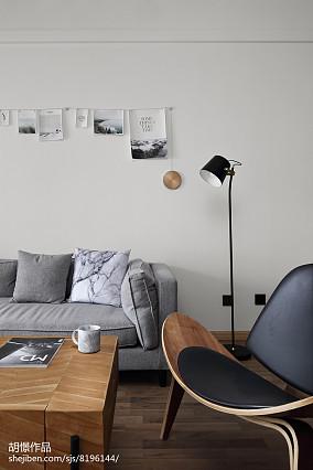 精选北欧小户型客厅装修设计效果图片一居北欧极简家装装修案例效果图