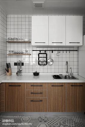 精选小户型厨房北欧装修欣赏图一居北欧极简家装装修案例效果图