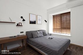 面积81平小户型卧室北欧装修图一居北欧极简家装装修案例效果图