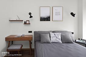 2018精选72平米北欧小户型卧室装饰图片大全一居北欧极简家装装修案例效果图
