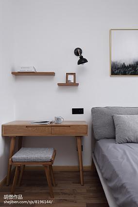 热门面积85平小户型卧室北欧装修图片一居北欧极简家装装修案例效果图