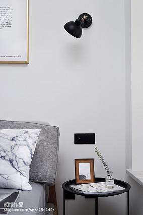 精美88平米北欧小户型卧室实景图片欣赏一居北欧极简家装装修案例效果图