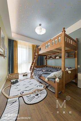 平米三居儿童房北欧实景图片大全81-100m²三居北欧极简家装装修案例效果图