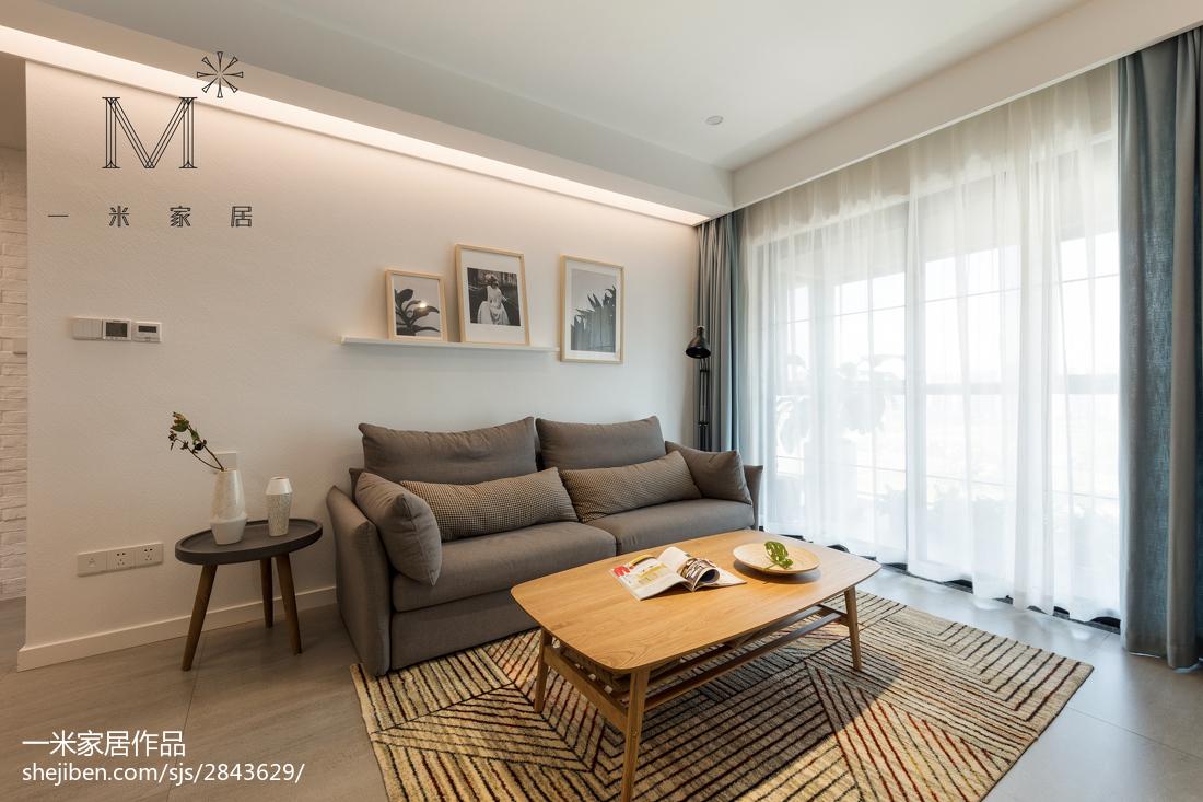平米三居客厅北欧欣赏图81-100m²三居北欧极简家装装修案例效果图
