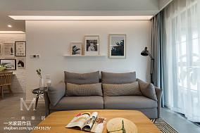 2018精选大小93平北欧三居客厅装修设计效果图片大全81-100m²三居家装装修案例效果图