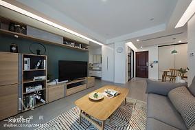 热门面积106平北欧三居客厅实景图81-100m²三居家装装修案例效果图