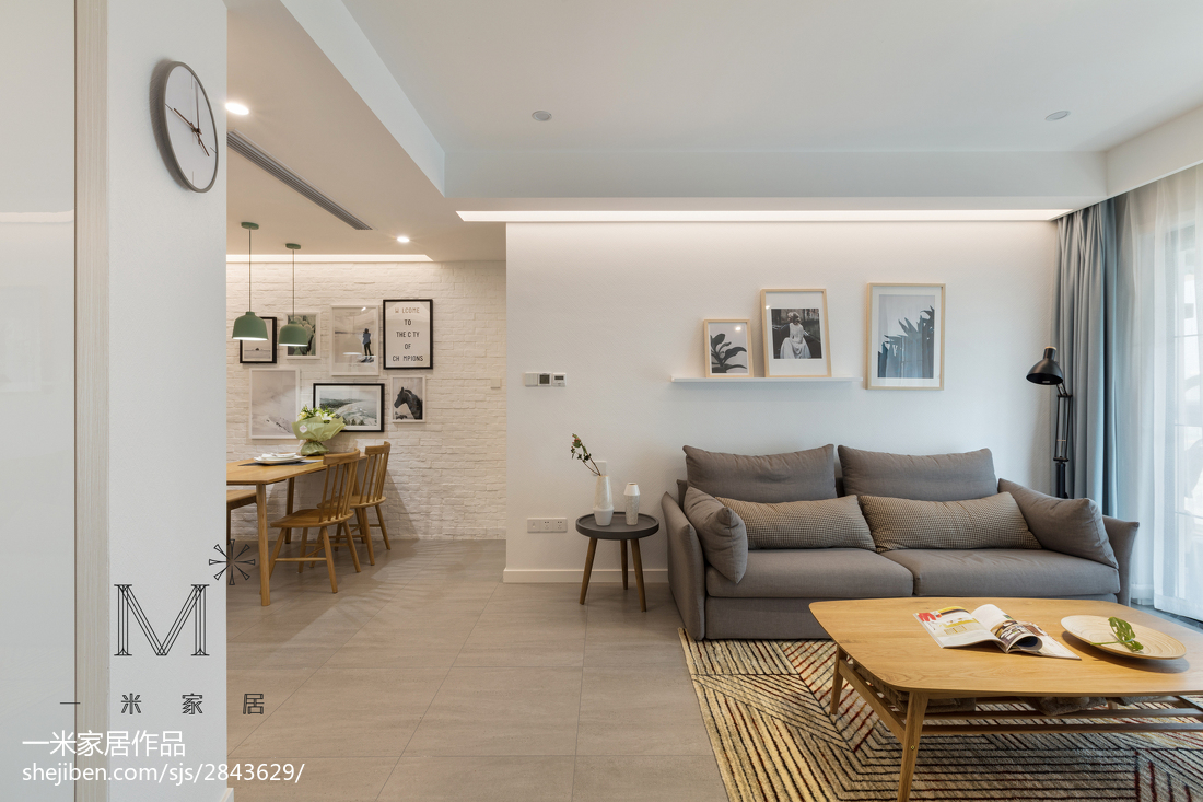 2018大小95平北欧三居客厅装修欣赏图片客厅窗帘北欧极简客厅设计图片赏析