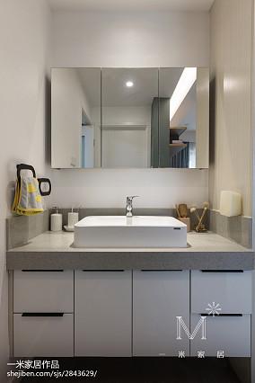 面积90平北欧三居卫生间实景图片大全81-100m²三居家装装修案例效果图