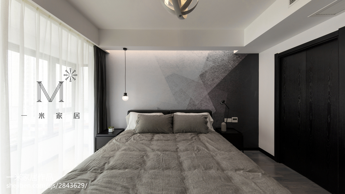 热门94平米三居卧室简约欣赏图卧室现代简约卧室设计图片赏析