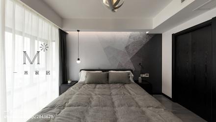 热门94平米三居卧室简约欣赏图三居现代简约家装装修案例效果图