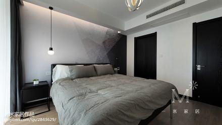 面积104平简约三居卧室欣赏图片大全