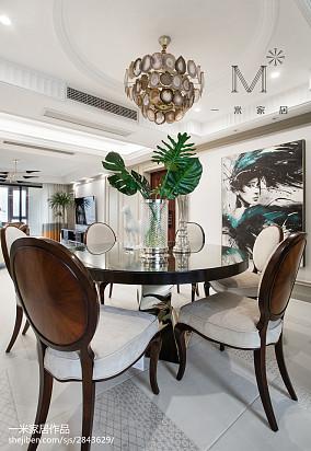 热门105平米三居餐厅美式装修实景图片大全