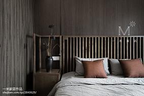 94平米三居卧室中式效果图片大全三居中式现代家装装修案例效果图