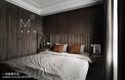 2018精选103平方三居卧室中式实景图片